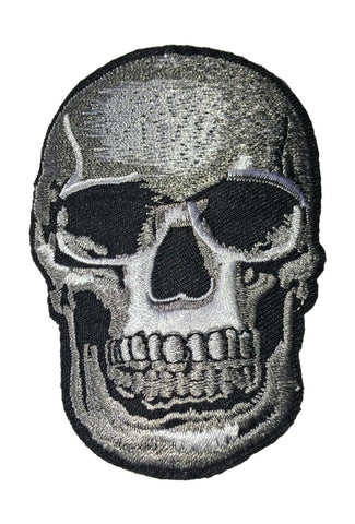 Skull Skeleton Goth Death Metal Horror Iron On Sew On Embroidered Patch