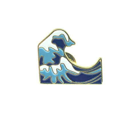 The Great Wave of Kanagawa by Katsushika Hokusai Enamel Pin Badge
