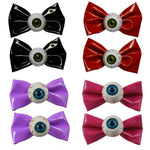 Kreepsville 666 Eyeball Hair Bow Hair Slides Pair All Colours Goth Horror