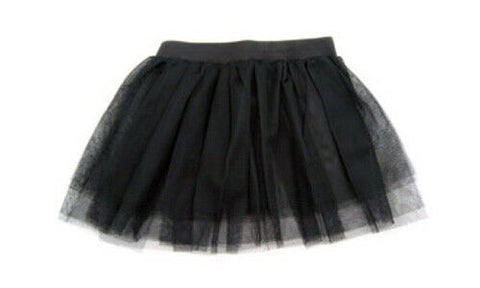 Black Elasticated Girls / Womens Tutu Skirt Rave Goth