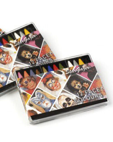 Stargazer Face Paint Colour Sticks Crayons x 12