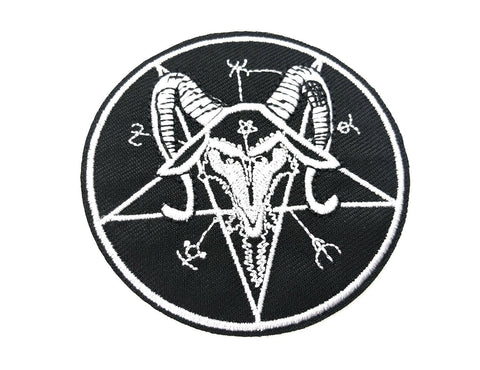 Goat Baphomet Devil Pentagram Satanic Symbol Fabric Iron on Patch