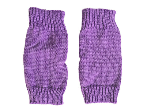 Thick Knit Womens Fingerless Warm Winter Gloves Mittens 16 Vibrant Colours
