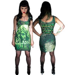 Kreepsville 666 Night of The Living Dead Green Womens Tank Dress