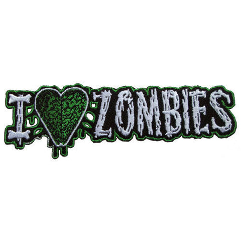 Kreepsville 666 I Heart Zombies Fabric Embroidered Iron on Patch