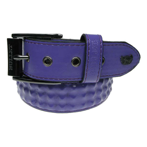Bullet 69 Purple Covered Internal 3 Row Pyramid Inside Stud Studded Belt