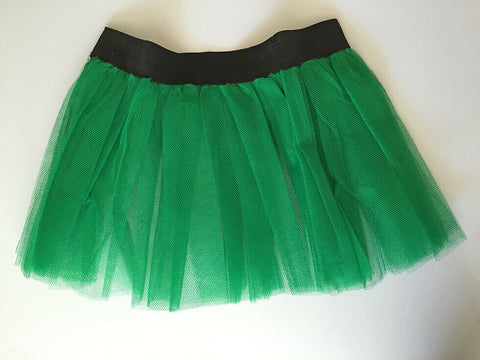 Green Womens / Girls Net Elasticated Tutu Ballerina Dancer Fancy Dress