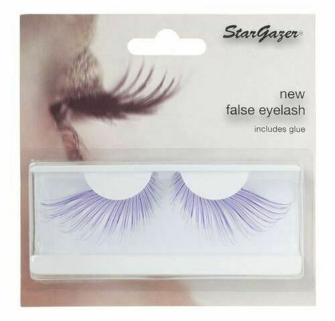 Stargazer Purple False Eye Lashes #56 Including Adhesive Faux Eyelashes