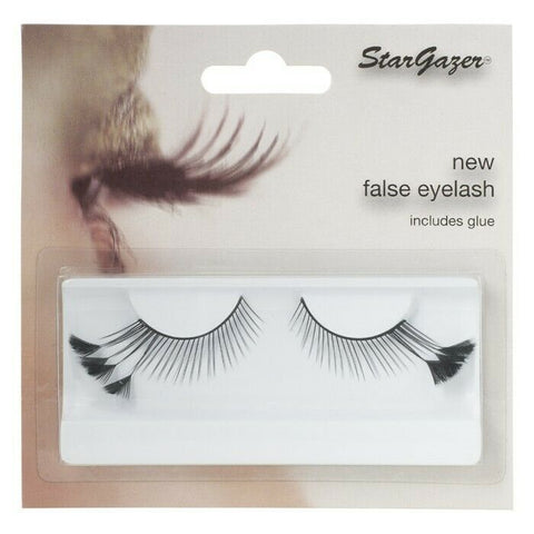 Stargazer Black  # 44 Feather False Eye Lashes with Adhesive