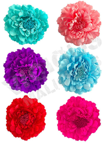 Large Peony Flower Floral Hair Clothes Clip Pin Slide Corsage Fascinator Wedding