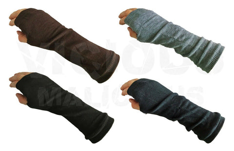 Womens Long Fingerless Slouch Gloves Armwarmers Winter Mittens