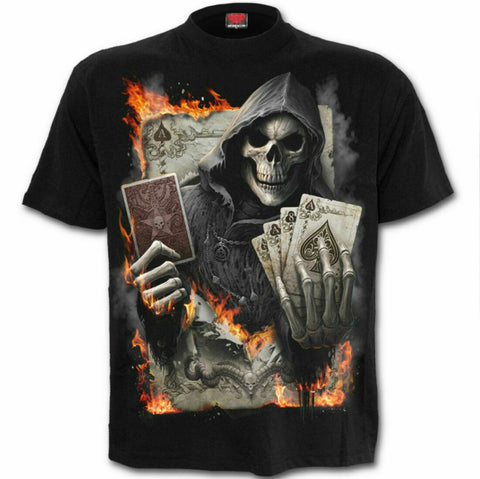 Spiral Direct Ace Reaper Death Skeleton Spades Poker Cards T-shirt