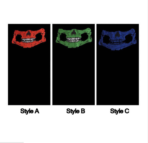 Skull Skeleton 12 in 1 Coloured Jaw Multifunctional Headwear Neck Warmer Scarf B