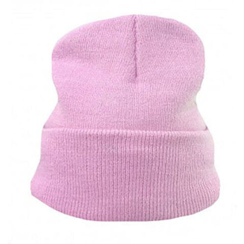 Pastel Baby Pink Slouch Beanie Hat Womens / Mens