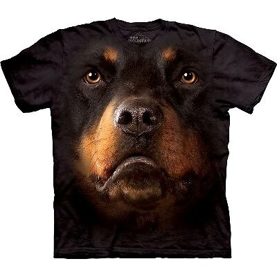 The Mountain Rottweiler Dog Face T-shirt