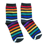 LGBTQ Pride Rainbow Striped Super Soft Socks Stripy