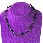 Barbwire Necklace Metal Barbed Wire Thick Heavy Duty Industrial Chain
