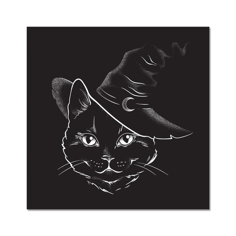 Black Witches Cat Goth Fine Art Print