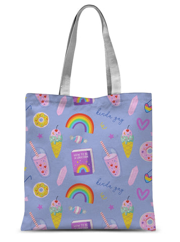 LGBTQ Pride Purple All Over Print Sublimation Tote Bag