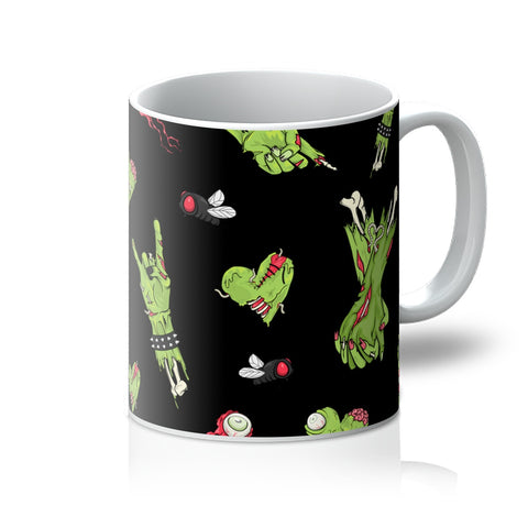 Zombie Hand All Over Print Black Mug