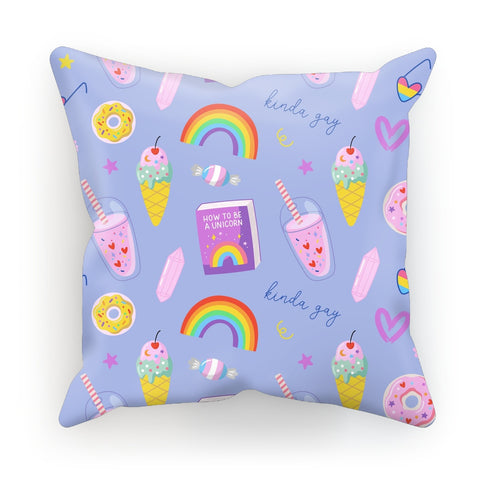 LGBTQ Pride Purple All Over Print Cushion