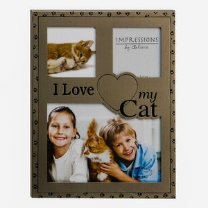 Best of Breed 'I love my cat' multi aperture photo fram