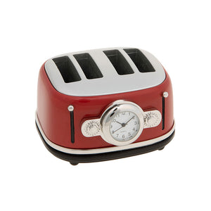 Techno Toaster Miniature Clock Red