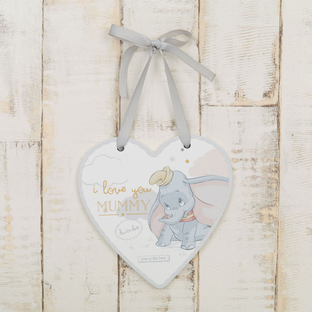 Disney Magical Beginnings'I LOVE YOU MUMMY' Dumbo Heart shape Plaque