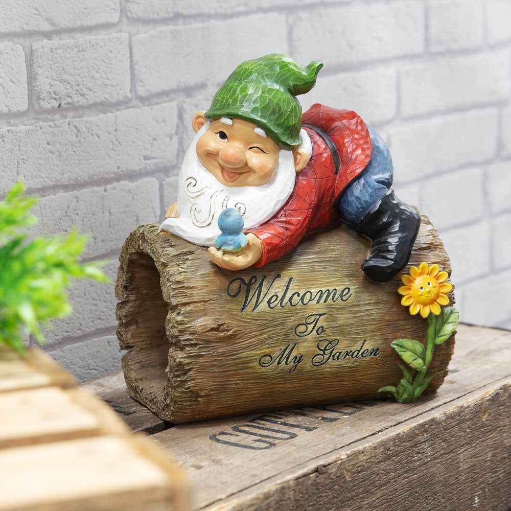 Country Living Garden Gnome Sign - Welcome To My Garden