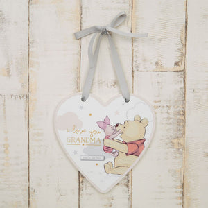 Disney Magical Beginnings Winnie The Pooh I Love You Grandma Heart Plaque
