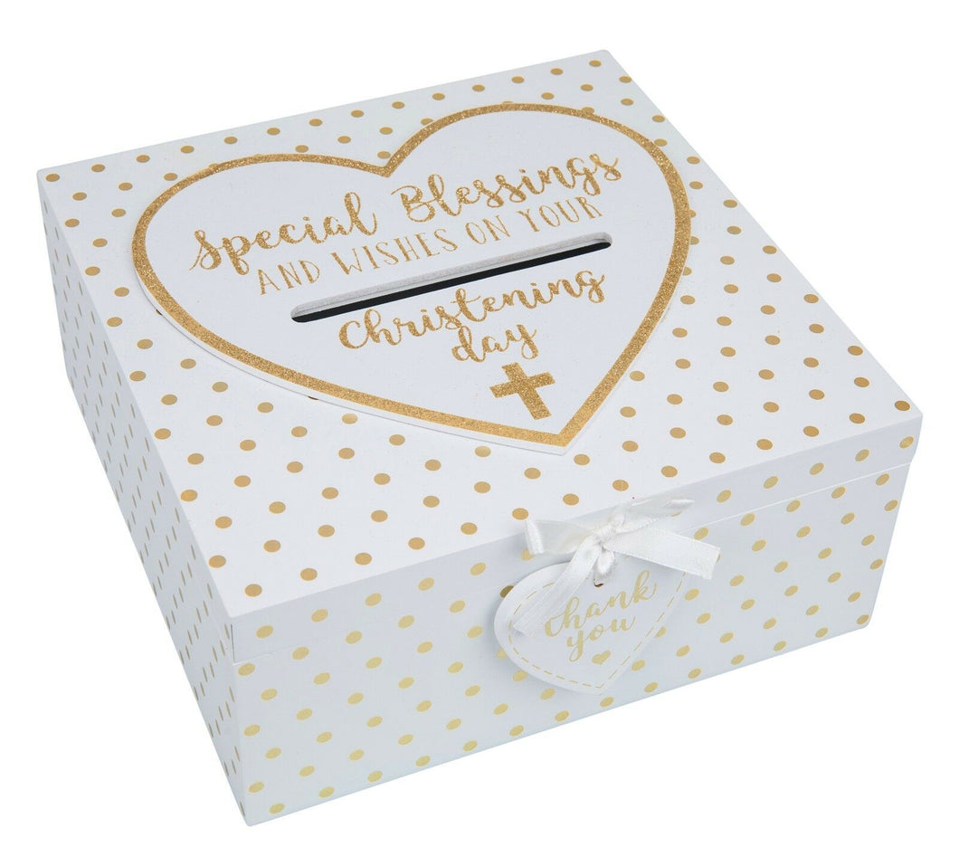 Christening Keepsake Box - Special Blessings & Wishes Gift