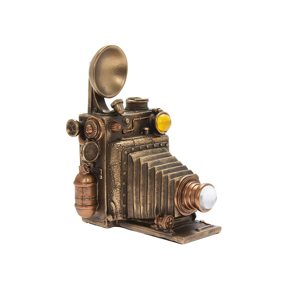 Leonardo Bronze Effect Steam Punk Vintage Camera