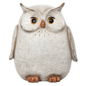 Country White/Grey Small Owl Ornament