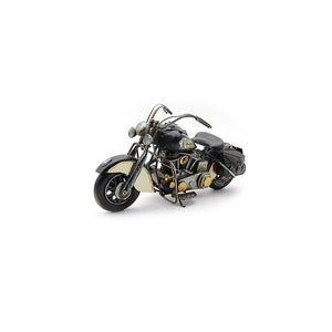 Lesser & Pavey Metal Art Tin Model - Black Indian Chief Style MOTORBIKE