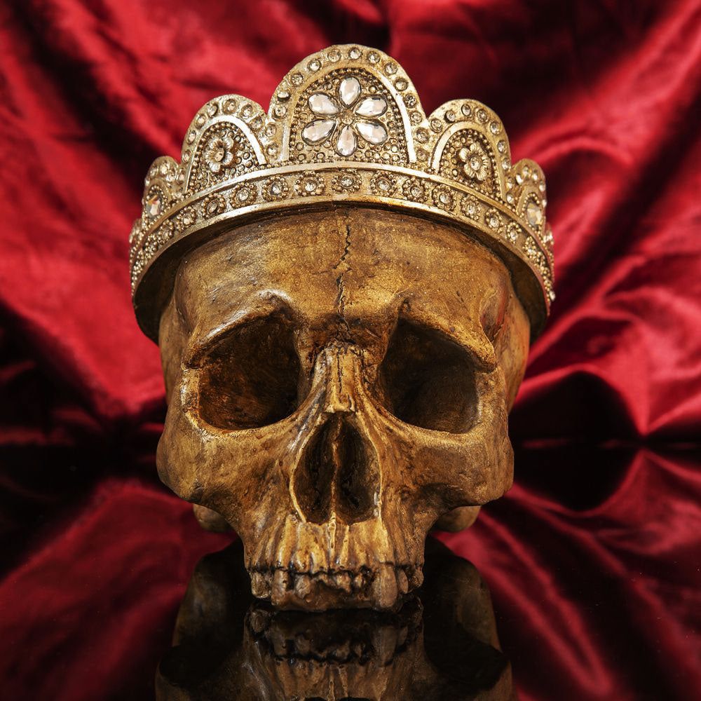 Juliana Handpainted Skull With Crown