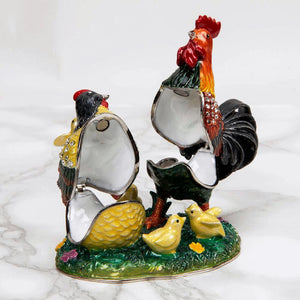Treasured Trinkets - Hen & Cockerel Trinket Box