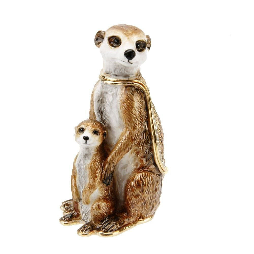 Treasured Trinkets Meerkat & Baby Trinket Box
