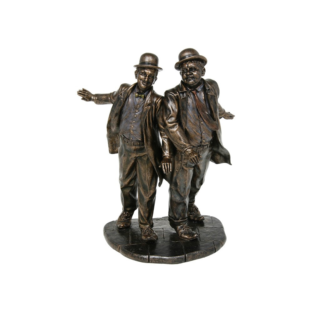Bronzed Laurel And Hardy Screen Legends Ornament