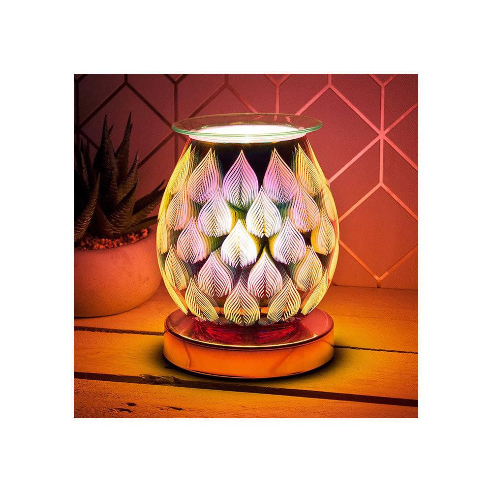 Desire Aroma 3D Electric Touch Lamp Silver Flame Wax Melt Oil Burner