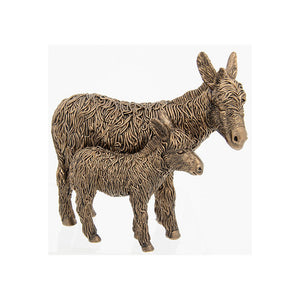 Shudehill Giftware Bronze Standing Donkey And Foal