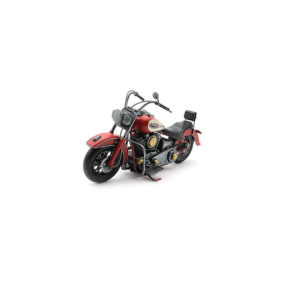 Lesser & Pavey Metal Art Tin Model - Red Indian Chief Style MOTORBIKE