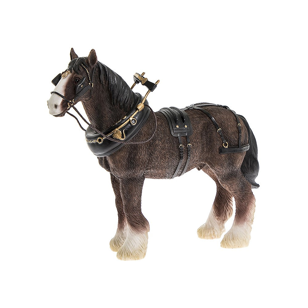 Leonardo Shire Horse With Harness Ornament