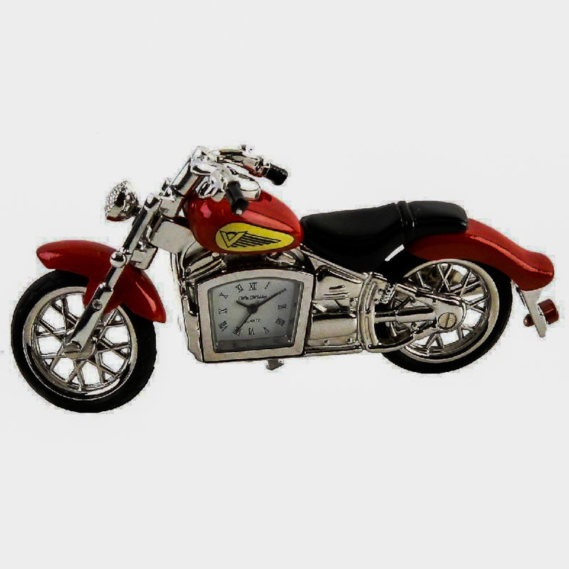 Emporium Clocks Indian Motorbike Miniature Clock