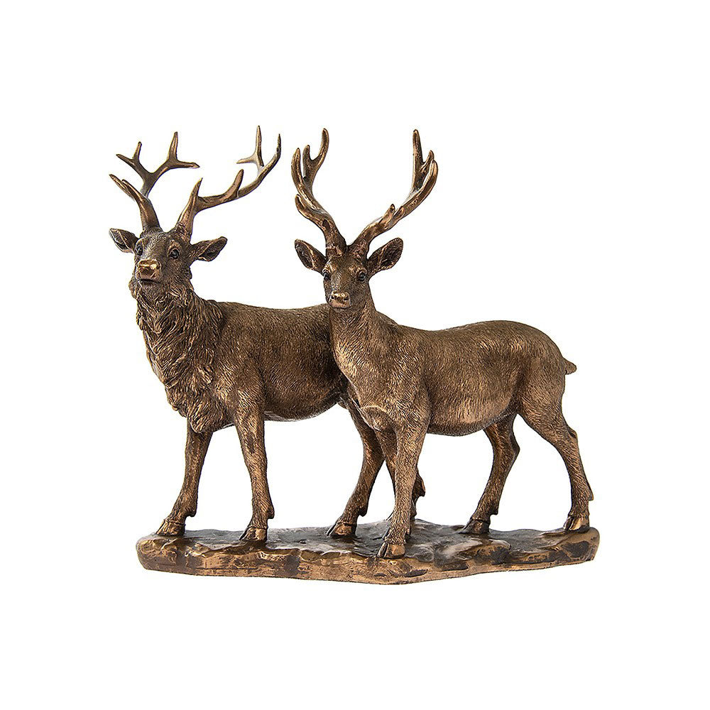 Leonardo  Bronzed Stag and Deer Bronze Effect Ornament