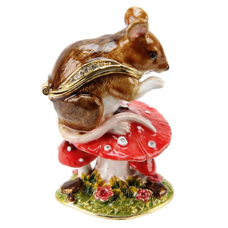 Treasured Trinkets Mouse on Toadstool Trinket Box