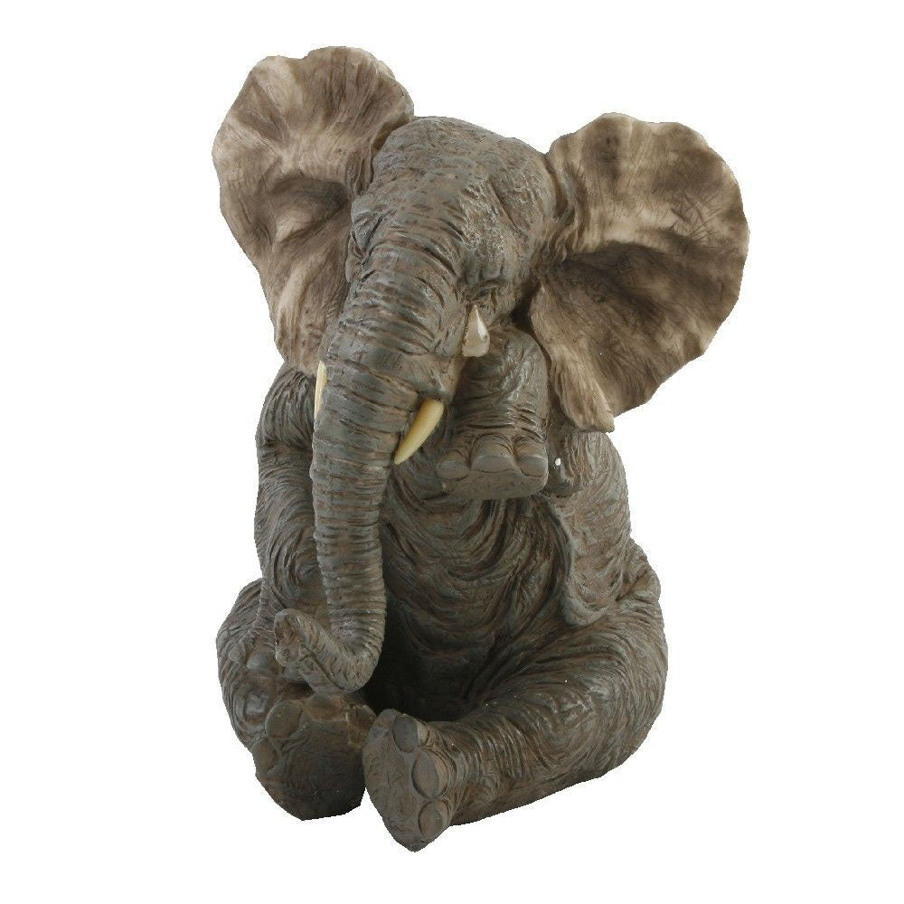 Naturecraft Sitting Crying Elephant Figurine