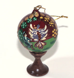 """Firebird"" - Hand Painted Russian Wooden Christmas Ornament"