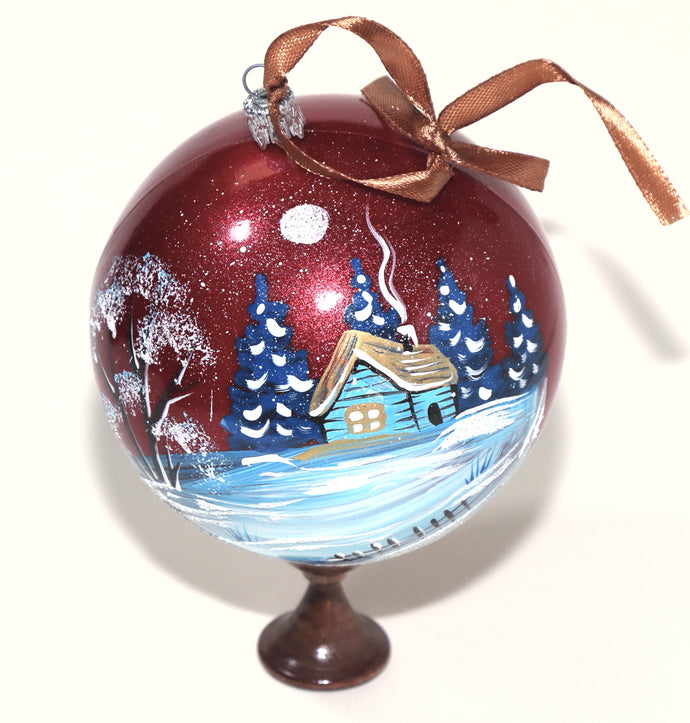 Hand Painted Christmas Ball Ornament