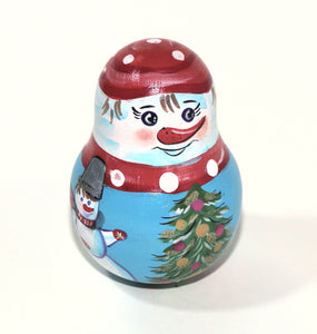 Snowman Roly-Polly Toy