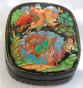 "Russian Palekh Lacquer Box, ""Vasilisa the Beautiful"""